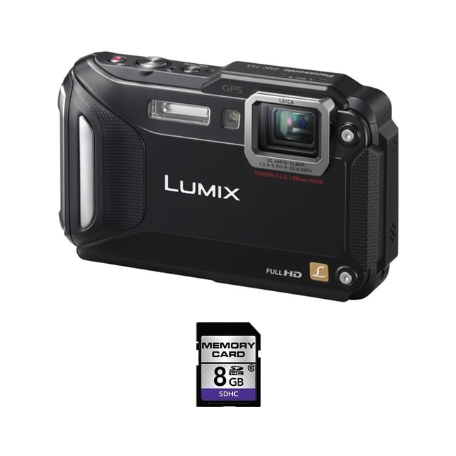 Panasonic Lumix DMC-TS5 Waterproof Black Digital Camera 8GB Bundle at Sears.com