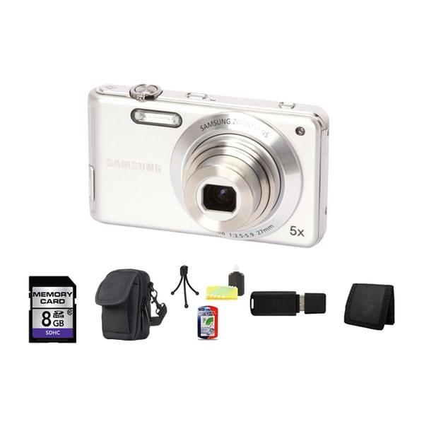 Samsung ST71 14.2MP White Digital Camera 8GB Bundle