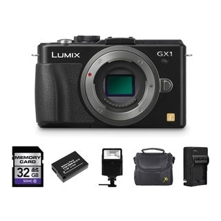 Panasonic LUMIX DMC-GX1 Mirrorless Micro 4/3 Camera Body 32GB Bundle