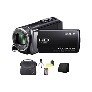 Sony HDR-CX210 High Definition Handycam Black Camcorder Bundle