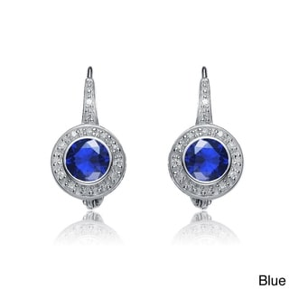 Collette Z Sterling Silver Cubic Zirconia Leverback Earrings