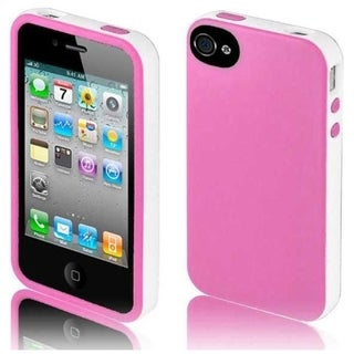 BasAcc Pink/ White/ Black Case for iPhone 4GS/ 4G