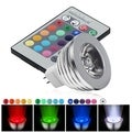 BasAcc MR16 3W RGB 16 Color LED Bulb/ IR Remote Control