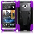 BasAcc Black/ Purple Case with Stand for HTC One M7