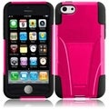 BasAcc Hot Pink/ Black Case with Stand for Apple iPhone 5C