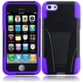 BasAcc Black/ Purple Case with Stand for Apple iPhone 5C