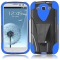 BasAcc Black/ Blue Case with Stand for Samsung Galaxy S3 i9300/ i747