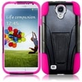 BasAcc Black/ Hot Pink Case with Stand for Samsung Galaxy S4 i9500