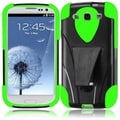 BasAcc Black/ Neon Green Case with Stand for Samsung Galaxy S3 i9300