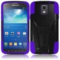 BasAcc Black/ Purple Case with Stand for Samsung Galaxy S4 Active i537