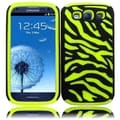 BasAcc Black/ Neon Green Zebra Silicone Case for Samsung Galaxy S3