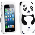 BasAcc Black Panda Silicone Case for Apple iPhone 5
