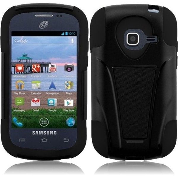 INSTEN T-Stand Dual Layer Hybrid Stand PC Soft Silicone Phone Case Cover for Samsung Galaxy Centura SGH-S