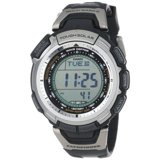 Casio Men's Black Pathfinder Multi-Band Solar Atomic Watch