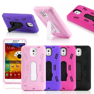 Gearonic Three Layer Rubber Case Stand for Samsung Galaxy Note 3 III