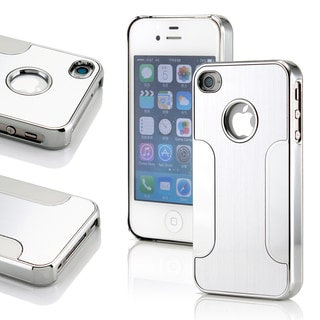 Gearonic Sliver Aluminum Case for Apple iPhone 4 & 4S