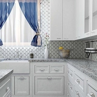 SomerTile Chevron 10.5x11 Glossy White Porcelain Mosaic Wall Tile (Pack of 10)