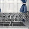 SomerTile Illuminia 12x12 Square Chromium Glass Mosaic Wall Tile (Pack of 10)