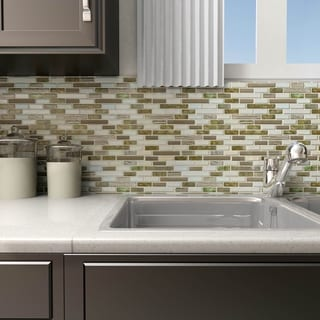 SomerTile 12 x 12-inch Lagoona Glass Mosaic Wall Tile (Case of 10)