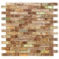 SomerTile Luster 12x12 Omega Glass Mosaic Wall Tile (Pack of 10)