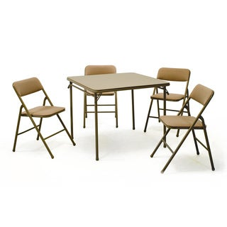 Folding Table and Chairs (5-piece Set)