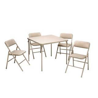 Cosco Folding Table and 5-piece Chairs Set