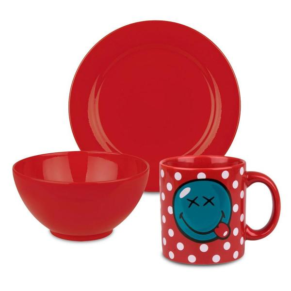 Waechtersbach Smiley Red 3-piece Breakfast Set