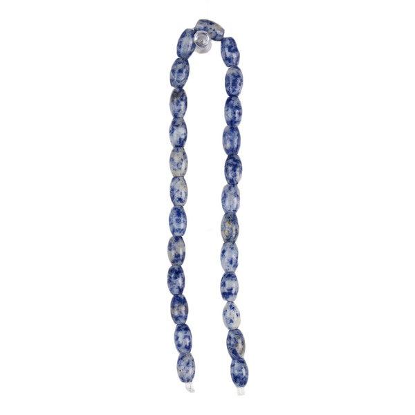 DCWV Bead Strand 12-inch Stone Marble Blue Bead Set