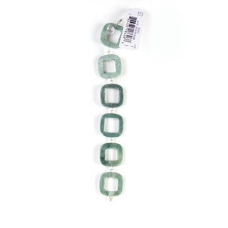 DCWV Bead Strand 7-inch Stone Open Square Green Bead Set