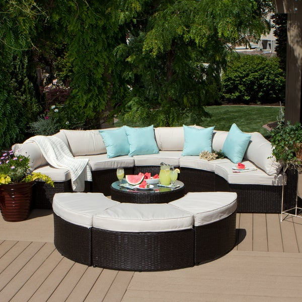 Isla 9 piece Outdoor Sectional Overstock Shopping Big Disc