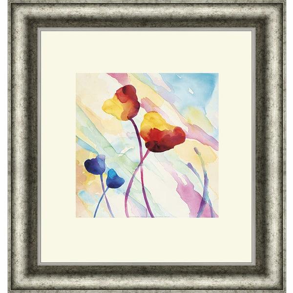 Deborah LaMotte 'Tilt Tulips II' Framed Art Print
