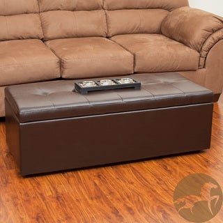 Christopher Knight Home Abigail Chocolate Storage Ottoman