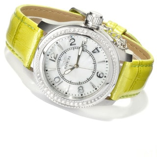 Invicta Women's BM IN12409 Slightly Blemished 'Corduba' Quartz Leather Watch Set
