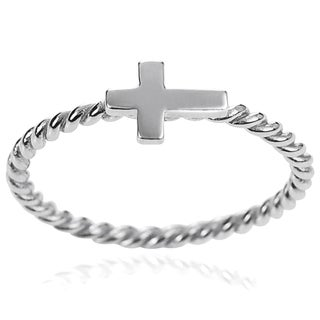 Tressa Collection Sterling Silver Cross Ring