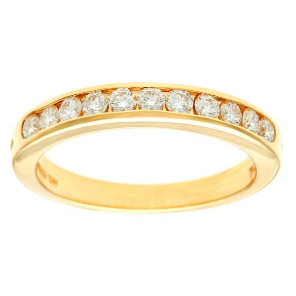 Pre-owned Tiffany & Co. 18k Yellow Gold 1/3ct TDW Diamond Wedding Band