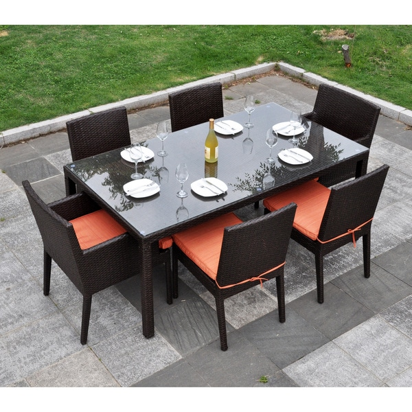 Cambridge 7 Piece Outdoor Dining Set Overstock Shopping Big Discounts On Dining Sets