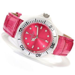 Invicta Women's BM IN11298 Slightly Blemished 'Pro Diver' Quartz Leather Watch