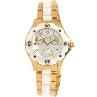 Invicta Women's Slightly Blemished 'Angel' Ceramic Goldtone Watch