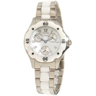 Invicta Women's Slightly Blemished 1651 'Angel' Ceramic Silvertone Watch