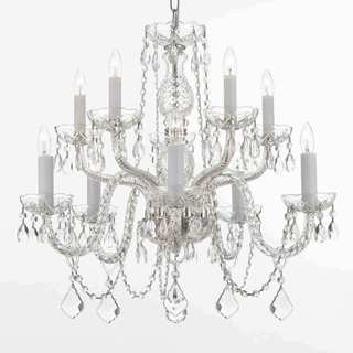 Gallery All Crystal 10-light Silver Chandelier