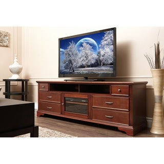 ABBYSON LIVING Montgomery Walnut Wood 72-inch TV Console