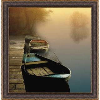 Steven Mitchell 'Misty Boats' Framed Art Print