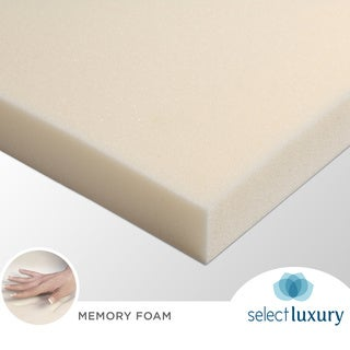 Select Luxury Reversible 1 5 inch Sofa Bed Sleeper Memory Foam Mattress Topper Overstock