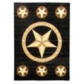 Skinz Design Texas Star Black Area Rug (5 'x 7')