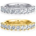 14k White or Yellow Gold 1ct TDW Prong-set Diamond Wedding Band (H-I, I1-I2)