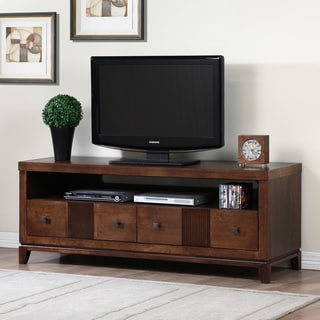 Retro Tobacco Finish 2-drawer Entertainment Center