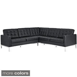 Leather L-Shaped Sectional Sofa