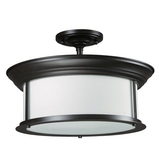 Z-Lite 3-light Bronze Semi-flush Mount