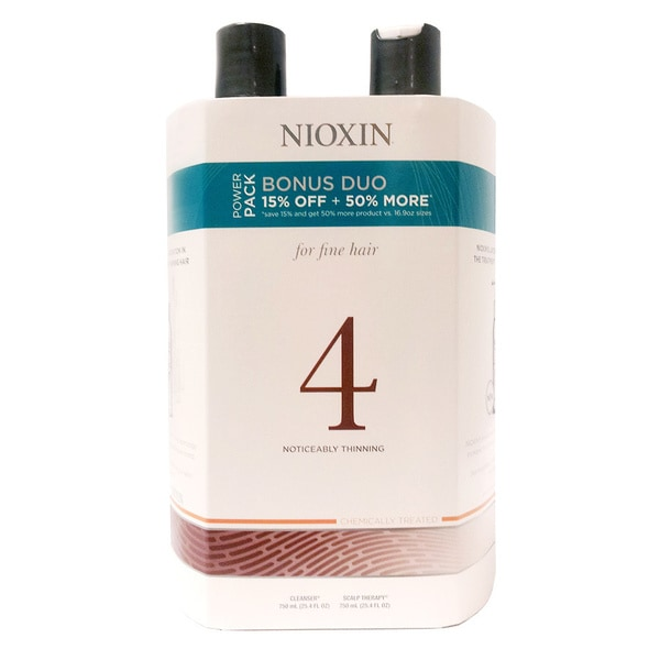 Nioxin System #4 Cleanser & Therapy 25.4-ounce Duo