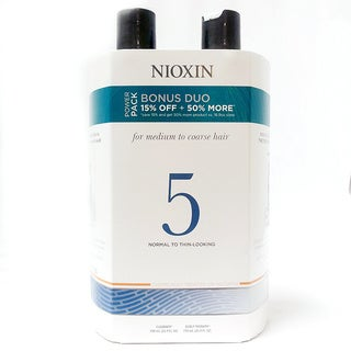 Nioxin System #5 Cleanser & Therapy 25.4-ounce Duo